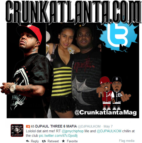 FUNNY- DJ PAUL - Corrects a fan on Twitter - That Ain't Me!