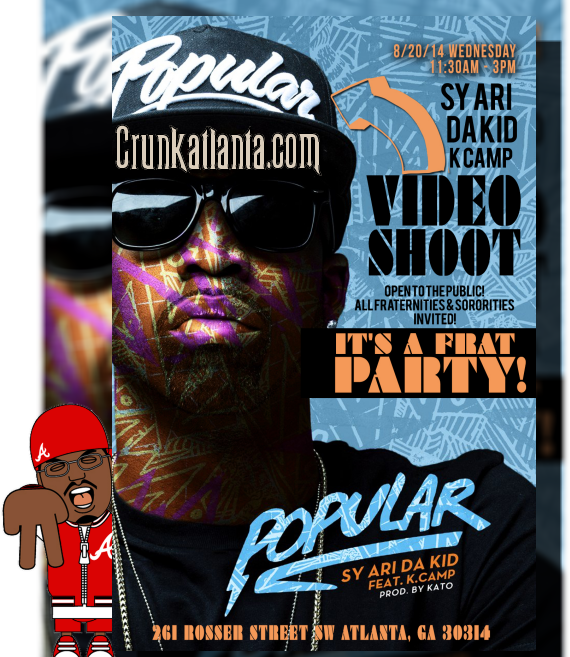 Attention All Greeks in Atlanta- SY Ari Da Kid Video Shoot