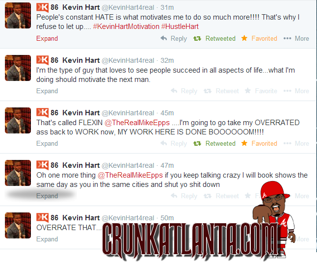 SHOTS FIRED- MIKE EPPS SAYS KEVIN HART OVERRATED- TWITTER WAR