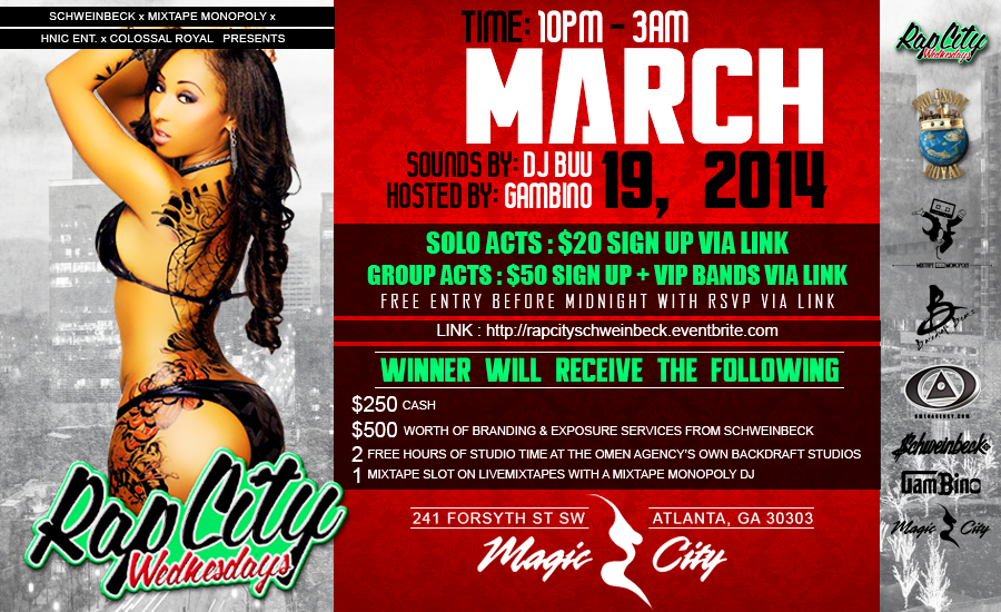 Atlanta's  Magic City -RapCity Wednesdays with Schweinbeck