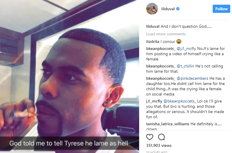Lil Duval to Tyrese: God Told Me to Tell You That You're Lame
