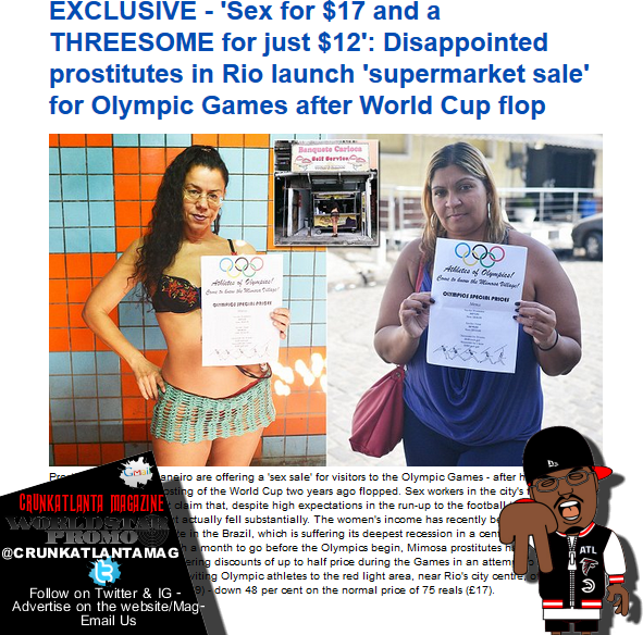 Rio Prostitutes Running a Sale for Olympics