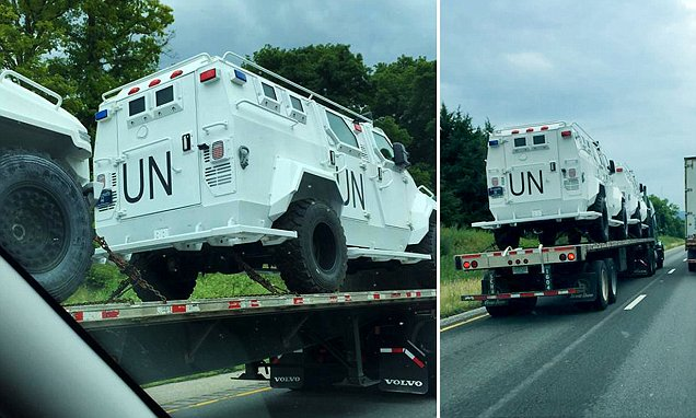 Fully Armored UN Trucks Spotted in Virginia