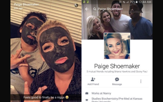 Black Face Kansas State University Student Kicked Out of School